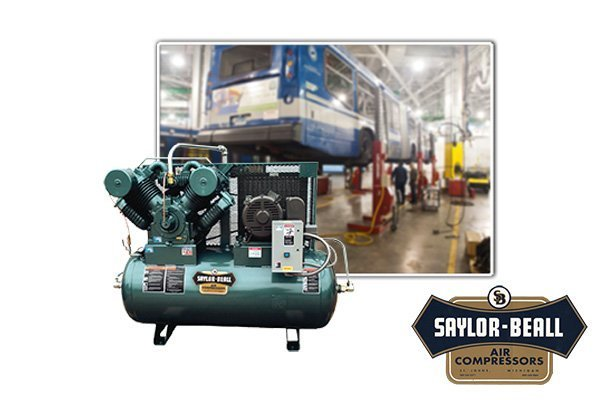 Saylor Beall reciprocating air compressor - COMPRESSED AIR